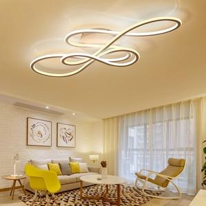 Image 3 - Đôi Phát Sáng đèn LED hiện đại Đèn Chùm cho phòng khách phòng ngủ lamparas de techo mờ ốp trần đèn chùm đèn gắn xe đạp