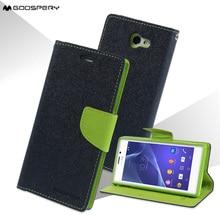 Для Sony Xperia M2 Mercury Goospery Необычные Дневник Магнитный кожаный чехол для Sony Xperia M2 D2303 D2305 D2306/ M2 двойной D2302