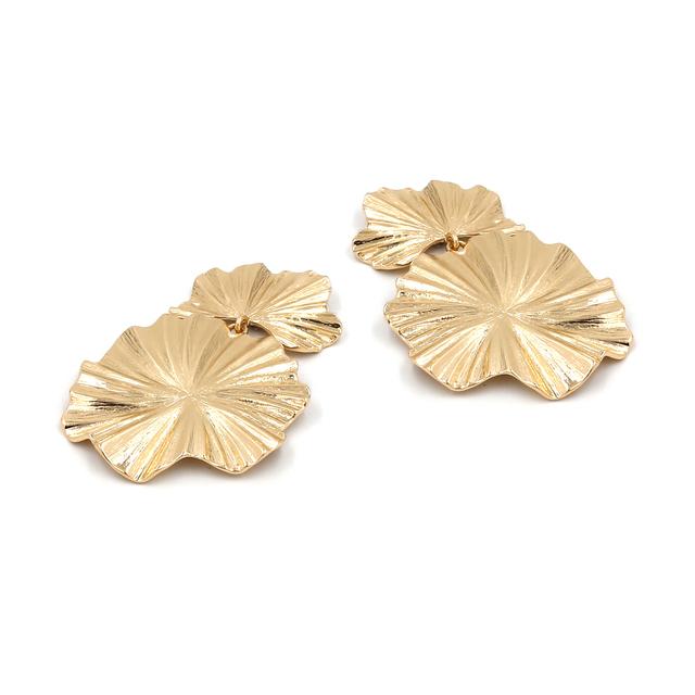 Vodeshanliwen ZA New Design Gold Metal Leaf Drop Dangle Earrings For Women Bohemia Vintage Statement Earrings Accessories