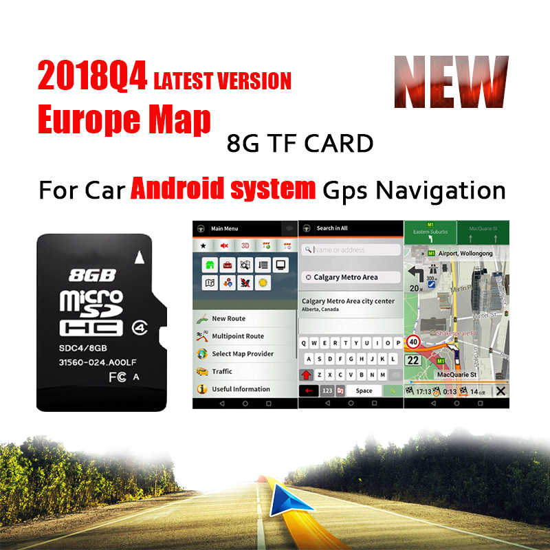 Map Of Spain For Android.Fit For Android System Car Auto Gps Navigation 8gb Micro Sd Card Map
