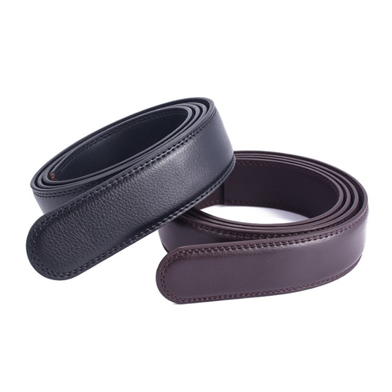 Men's No Buckle Belt Body Strap Without Buckle Belts Men Good Quality Male Belts Automatic Pu Belt For Men 3.5cm Belts