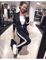 2018 Winter Women Tracksuit Two Piece Outfits Women Set Hooded Sweatshirt And Full Pant Women Set Casual Fitness 2 Piece Set
