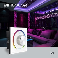 3CH led dimmer Rotary RGB touch panel controller Switch knob RF remote RGB For 5050 3528 2835 led strip light tape DC12V 24V