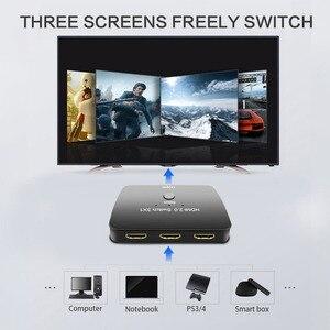Image 2 - Porta HDMI Switch 4 3 K x 2 K/60Hz 3 Em 1 fora com Cabo de Alimentação suporta 1080 P & 3D HD Adaptador de Áudio para o Portátil Notebook PC