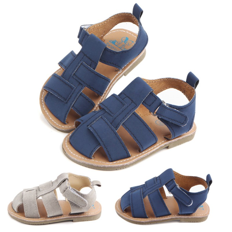Infant Boy Toddlerslipper Shoes My First  Hard TPR Sole Prewalker Shoes Newborn Boy Shoes  Summer Baby Boy Shoes