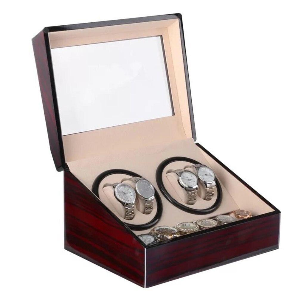 US/EU/AU/UK Plug Shaker montre enrouleurs porte-boîte de rangement 4 + 6 automatique mécanique montre remontoir boîte vitrine de bijoux