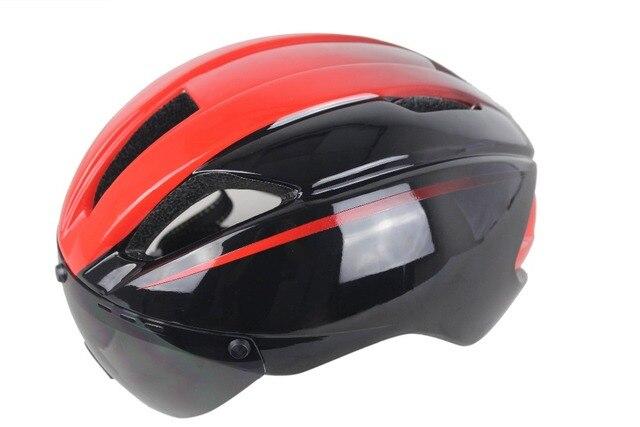 2018 New Design Aero Road Bike Helmet With Detachable Goggles