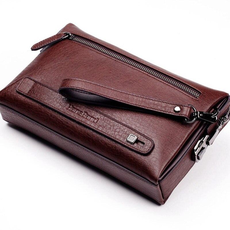 0f1ef7027b8d Hansband Genuine Leather Password Lock Wallet Male Passport Card ...