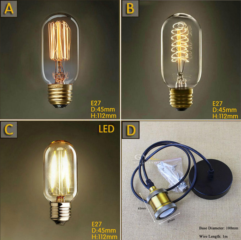 T45 Vintage Squirrel Spiral 40W E27 Incandescent Edison Light Bulb 4W LED tungsten filament lamp bulbs pendant base holder книжки панорамки умка книжка панорамка колобок