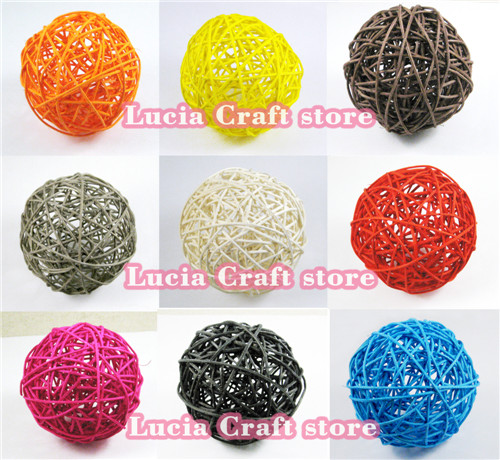 SALE! Lucia Crafts 2pcs/lot Multi colors options Rattan wicker 10cm (4inch) patio to garden, Wedding, Party decoration 024047 ...