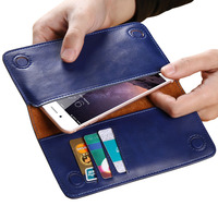 Genuine Leather Wallet Pouch Case For Iphone 5s 6 6s 7 7 Plus Phone Pouches For