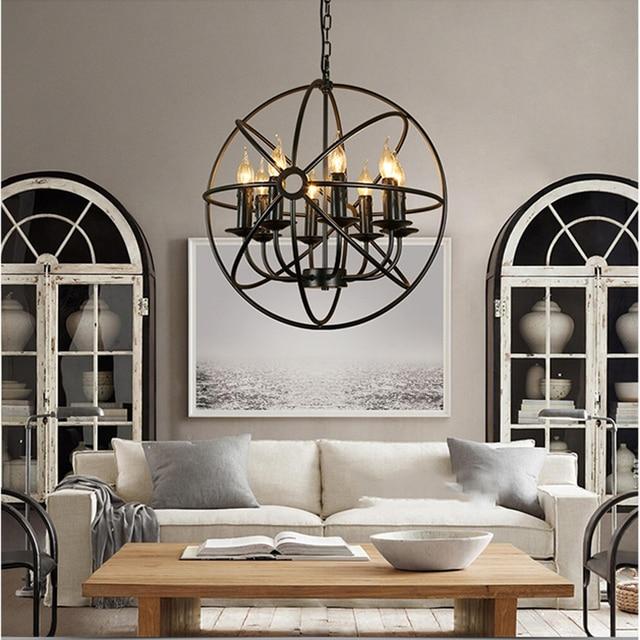US $249.4 14% OFF|Luxus küche beleuchtung retro Hängende lampen restaurant  Küche beleuchtung Restaurant Dekoration Foyer kronleuchter schlafzimmer ...