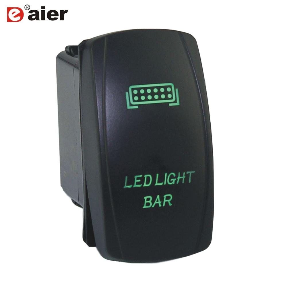 1PCS Laser Marine Switch SPST ON-OFF 12V Waterproof Push Button 5Pin Auto LED Light Bar