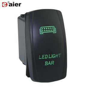 1PCS Laser Marine Switch SPST ON-OFF 12V Waterproof Push Button Switch 5Pin Auto LED Light Bar