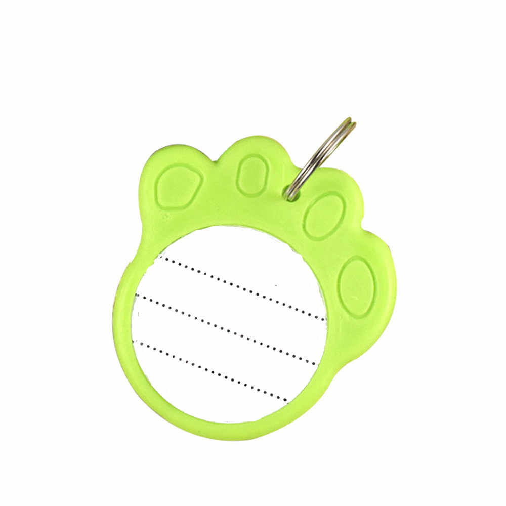 1pcs ID Tag for Pet Puppy Fashion Footprints Shape Dog Identity Card Pendant Pet Accesorios Cat ID Card Memorial Cards