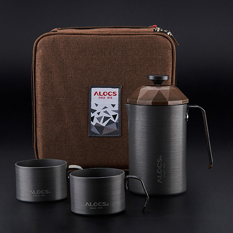 New outdoor camping travel coffee pot coffee cup French filter coffee pot teapot household portable law press hand coffee maker portable coffee maker manual coffee making machine coffee filter hand travelling french press pot 350 pcs metal filter paper
