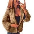 Feitong С Длинным Рукавом Свободные Кардиган Женщина Для Женщин Трикотажные Свитера Вскользь Перемычка Пальто Корейский Harajuku Стиль Trui # ИЛИ
