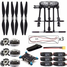 DIY Kit ZD850 Frame Kit with Landing Gear 620KV Bruless Motor 40A ESC 1555 Props Shock Absorber for FPV 6 Aelx Hexacopter Drone