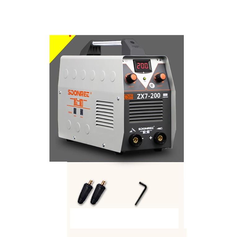 Full copper core small home 220V ARC MMA Welding Machine 200A Phase Welder DC Inverter Digital Dsplay welding apparatus ZX7-200