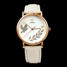 Yazole brand fashion rose reloj de oro de lujo de cristal de cuarzo reloj de las mujeres relojes señoras reloj reloj de señora horas montre femme reloj mujer