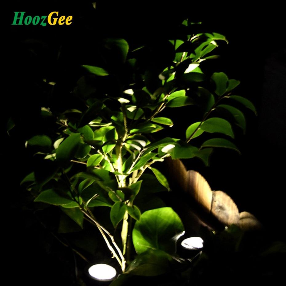 HoozGee Солнечные прожекторы 6 светодиодные подводные проекции огней Сад Открытый пруд, освещение Ni-MH аккумулятор 1.2 В 600 мАч