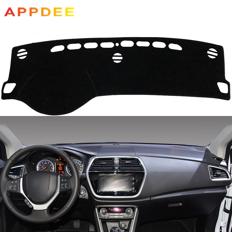 APPDEE Car Dashboard Cover Silicone Non-Slip For Suzuki S-Cross S Cross Cross 2013 2014 2015 2016 2017 2018 Dash Mat Carpet