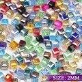 Top quality forma Quadrada contas Transparente quadrado de cristal Austríaco Upscale bola 2mm 200 pcs fornecimento de Jóias pulseira H500