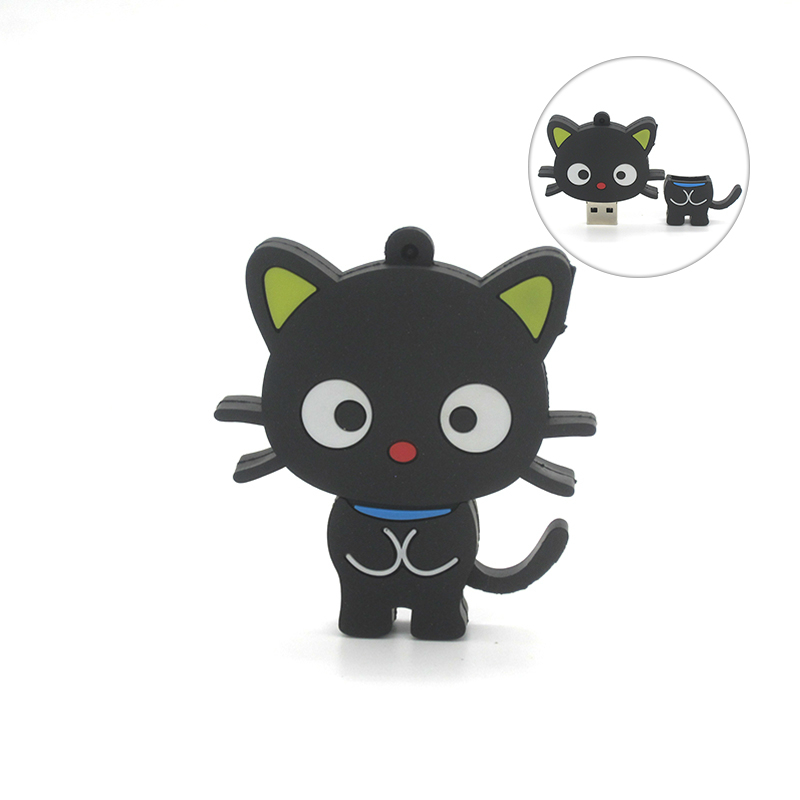 2019 New Cartoon Lovely Cat Usb Flash Drive 32GB 16GB 8GB 4GB 64GB Pen Drive Memory Stick Flash Disk For Tablet PC