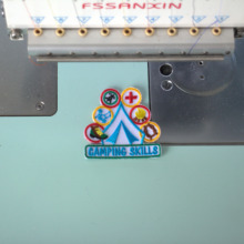 Custom Name Tag Embroidered Patch Sew or Iron on Clothing and Hats Any fonts and Sizes are Available Patch Type недорого