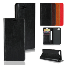 LUCKBUY Luxury Genuine Leather Wallet Phone Cases Coque for OPPO R17 Series NEO PRO Slim Business Style Book Cover