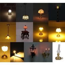 MagiDeal 1/12 миниатюрная настольная лампа в форме шарика для кукольного домика, светодиодный светильник для гостиной, спальни, ванной комнаты, кухни, детей, игрушка для ролевых игр