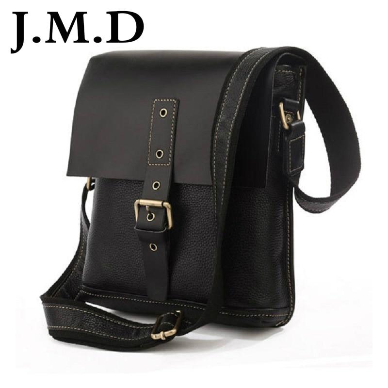 ФОТО J.M.D 2017 New Arrival 100% Cowboy Vintage Genuine Leather Men Briefcase Messenger Bag Shoulder Bags For Men Handbags 7157
