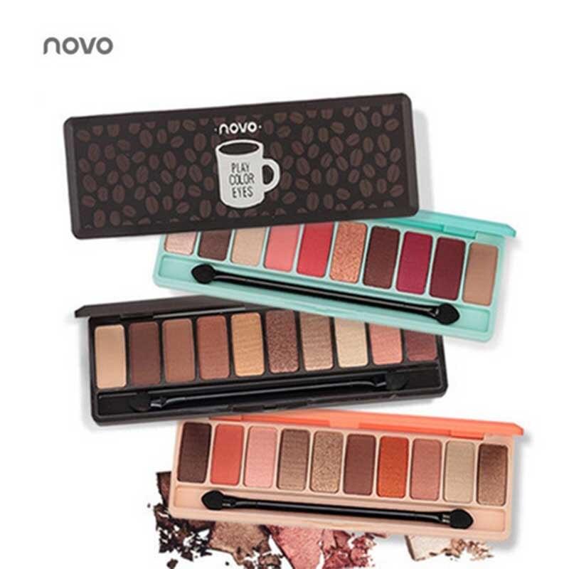 Novo moda paleta de sombra 10 cores fosco paleta de sombra glitter sombra de olho maquiagem nude conjunto de maquiagem coréia cosméticos