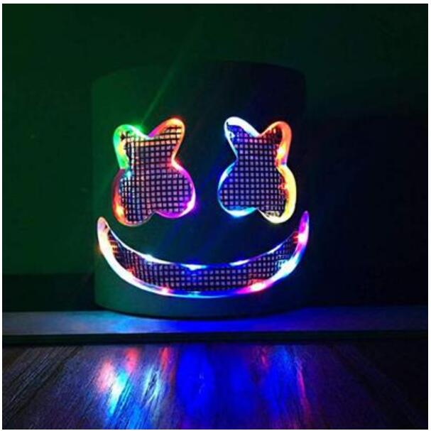 Novelty & Special Use Boys Costume Accessories Responsible Dj Marshmello Masks Light Headgear Mask Marshmello Helmets Cosplay Halloween Carnaval For Marshmello Dj Holiday Party