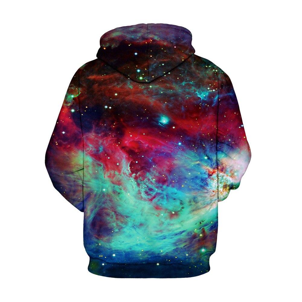 Mr.1991inc новые Цвет Звездное небо печати Повседневное кофты Для мужчин/wo Для мужчин Толстовка Длинные рукава с капюшоном Пуловеры для женщин ...