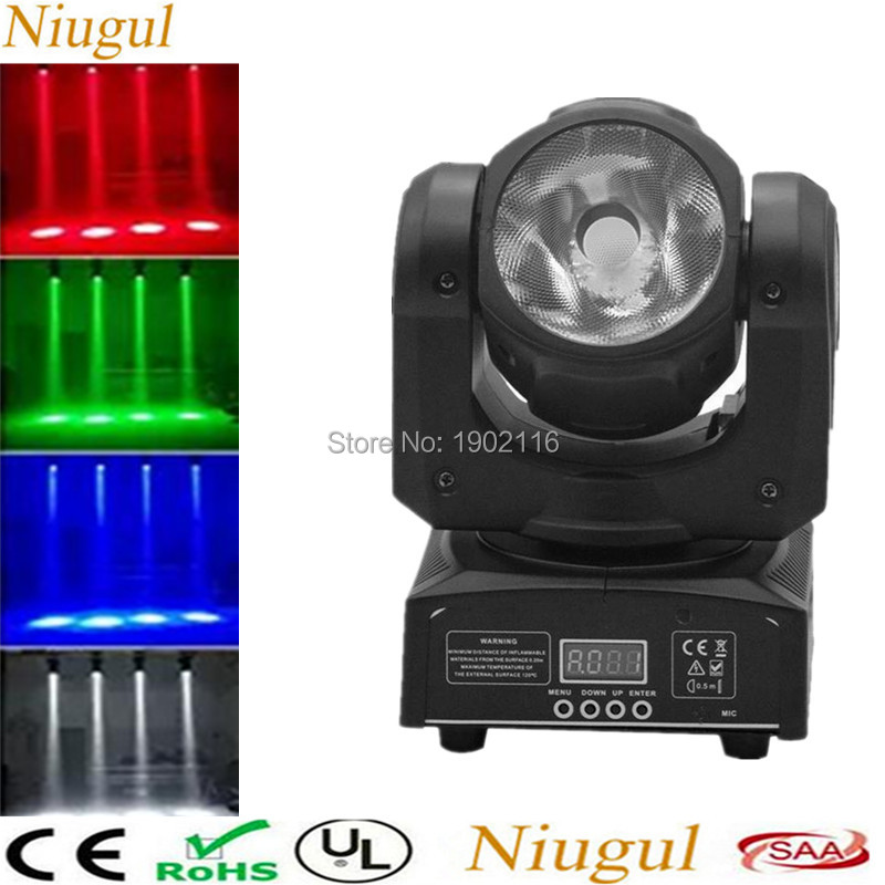 DHL Free Shipping High Quality Powerful 60W LED Beam Moving Head Light RGBW 4in1 60W Spot Beam Stage Lights DMX DJ Spot Lighting