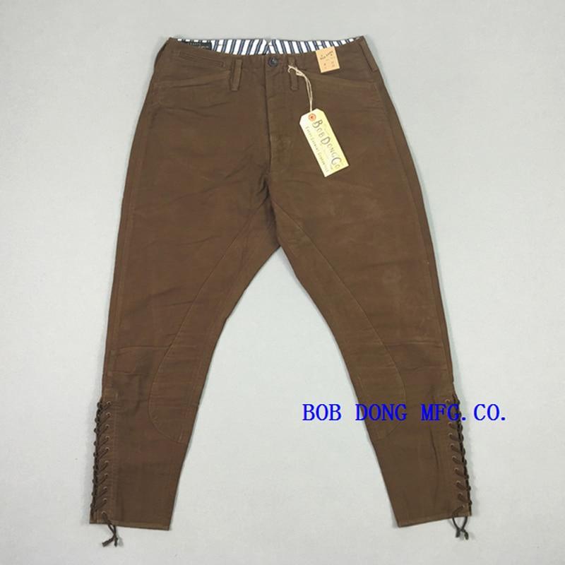 BOB DONG replicación Trailblazer pantalones Cruiser Rider pantalones Vintage para hombre Pantalones cónicos para hombre Pantalones de motociclista-in Pantalones pitillo from Ropa de hombre    1