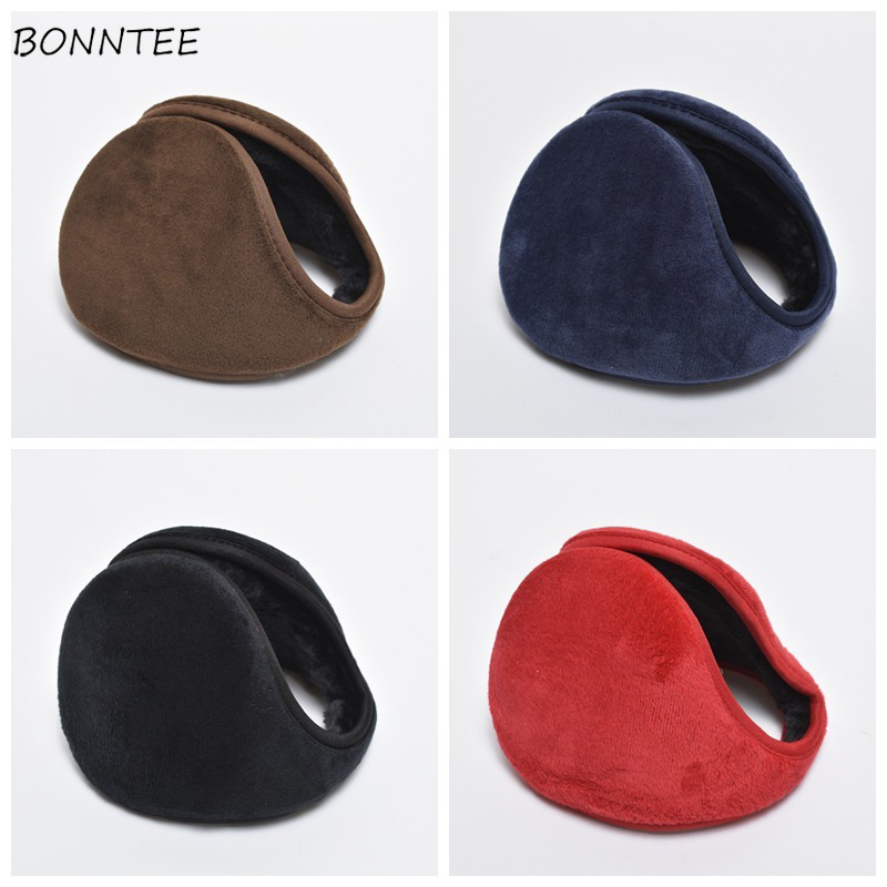 Earmuffs Women Unisex Antifreeze Furry Warm Kawaii Winter Womens Non-slip Simple All-match Thick Soft Female Chic Earmuff Solid