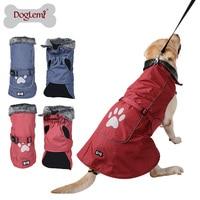 Waterproof Reflective Dog Clothes Winter Warm Fur Collar Vest Jacket Coat Sport Clothing For Small Medium