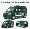 Зеленый Грузовик, почтовый автомобиль 1:32 сплав Вытяните назад модели автомобилей, внедорожник модели, Литье автомобиля, бесплатная доставка