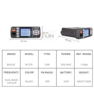 Image 4 - Baojie BJ 318 Car Walkie Talkie Dual Band VHF UHF Mobile Radio 20/25W Walkie Talkie 10 km Car Radio 10 KM Upgrade of BJ 218 Z218