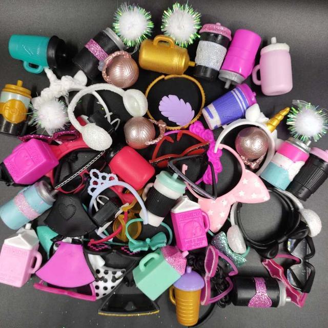 3 pc/5 pçs/set Série Série 3 4 LOL Acessórios Da Boneca Menina Coleção Incluindo Sapatos, Roupas, copos, Garrafas Chupetas