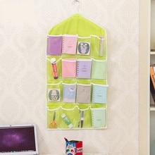 Вешалка для одежды, 16 Карманов, прозрачная подвесная сумка для носков, бюстгальтера, нижнего белья, вешалка для двери, настенный органайзер для хранения