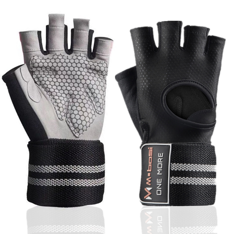 Fitness Gym Glove Men & Women Anti-Slip Silicone Grip Padded Weight Lifting Gloves With Wrist Wrap Crossfit Workout Bodybuilding