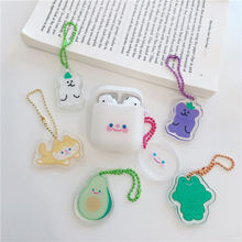 Bluetooth earphone Case for Airpods Silicone cute accessories for apple airpods 2 protection cover with keychain cartoon
