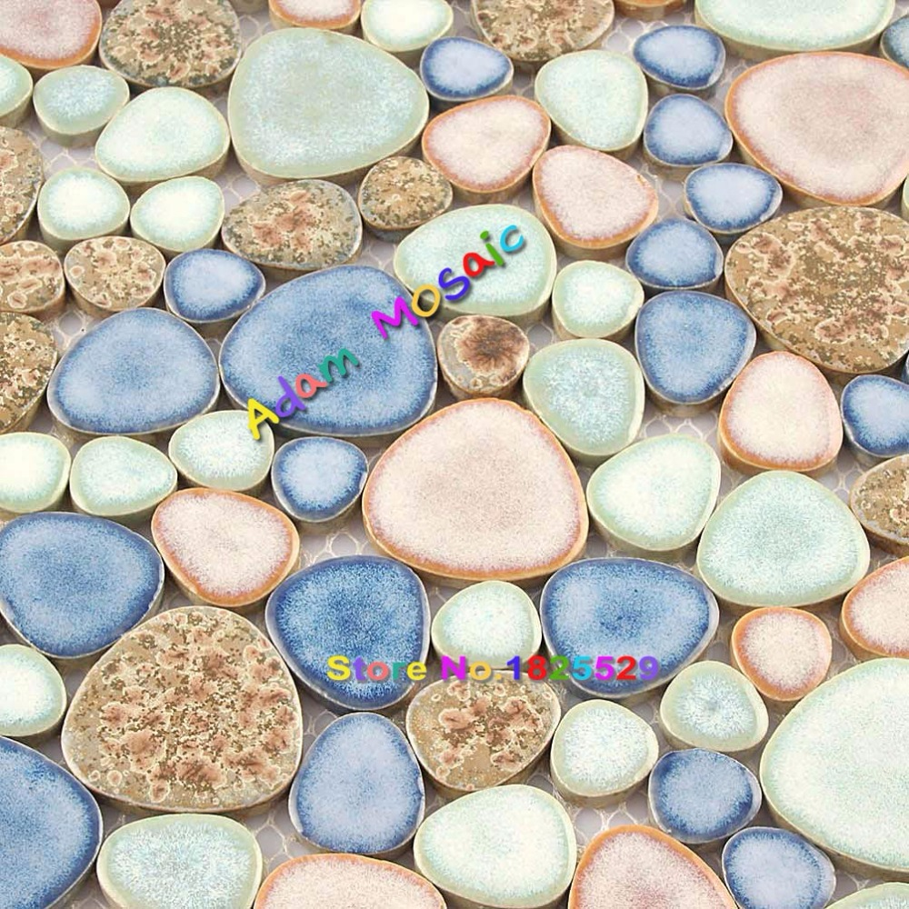 Fantastisch Farbe Fliesen Pool Kieselstein Mosaik Backsplash Badezimmer Boden Keramik  Porzellan Mosaik Blauen Pool Design