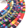 Cotton Rainbow Series leather cord/rope/jewelry accessories/jewelry findings/diy jewelry/hand made