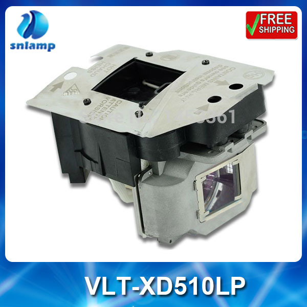 Compatible projector bulb lamp VLT-XD510LP/ P-VIP 180-230/1.0 E20.6 for SD510U WD510U XD510 XD510U-G XD510U EX51U shp110 compatible projector lamp bulb 030wj for sharp xr 40x xr 30x xr 30s free shipping 180 days warranty