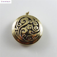 Grace Angie 1PCS New Round Spray Locket Necklace Charms festival Suspension Handcraft Pendant Accessory Jewelry Finding