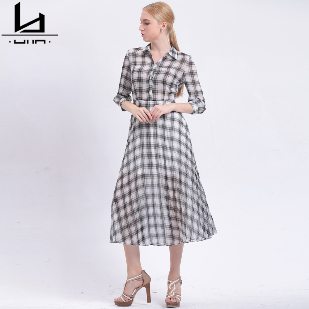 Plaid Lin Us 36 89 Hui Lin Plaid Women Autumn Dress Sweet A Line Shirt Dress New Fashion Hot Sale Elegant Style Ladies Dress Plus Size In Dresses From Women S